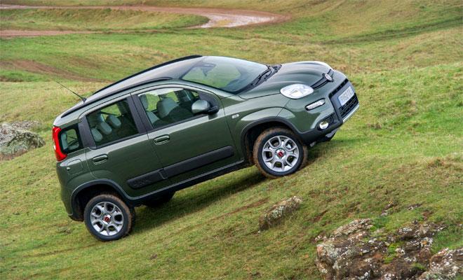 Fiat Panda 4x4 goes hill climbing