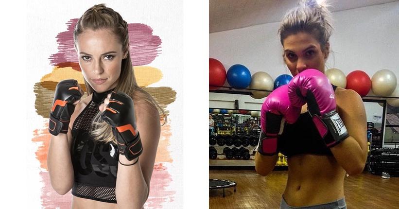 Gabi D´avila posa como boxeadora e internautas o compara com Jeiza da novela