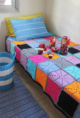 free crochet filet starburst patchwork blanket pattern