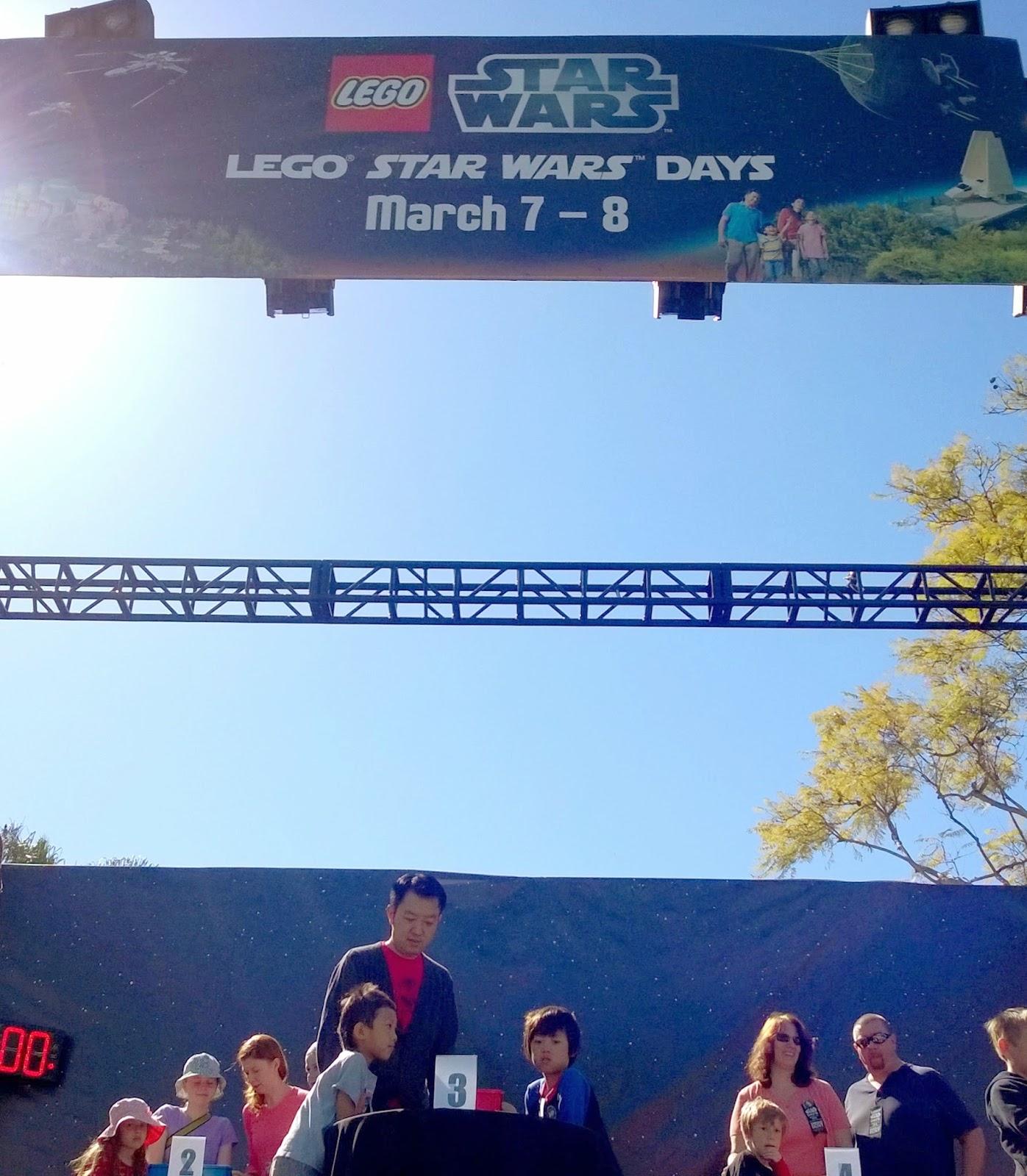 Legoland California Star Wars Days family build challenge