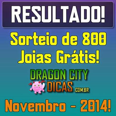 Resultado do Super Sorteio de 800 Joias - Novembro 2014