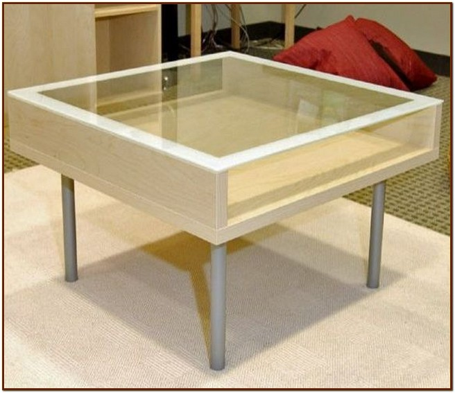 Glass top coffee table ideas for coffee lovers for Ikea glass table tops