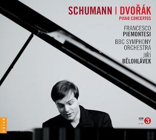 Schumann/Dvorak Piano Concertos - Francesco Piemontesi, BBC Symphony Orchestra, Jiri Belohlavek - Naive V5327