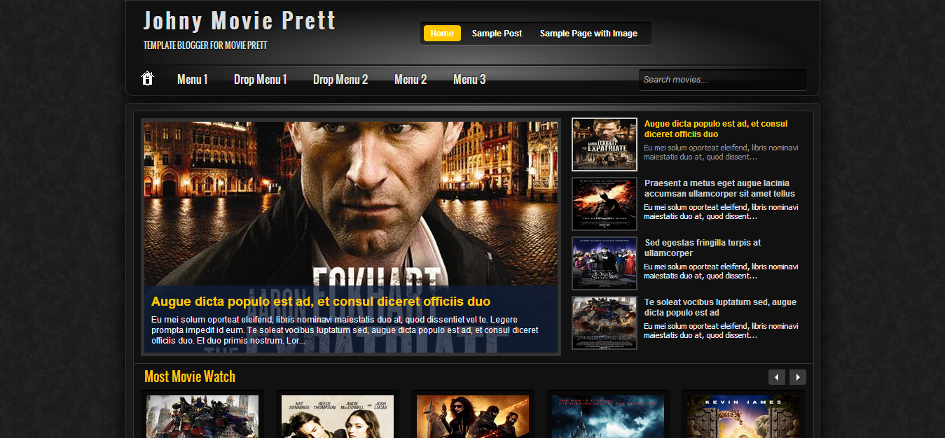 templates: Johny Movie Prett Blogspot Blogger Template For your ...