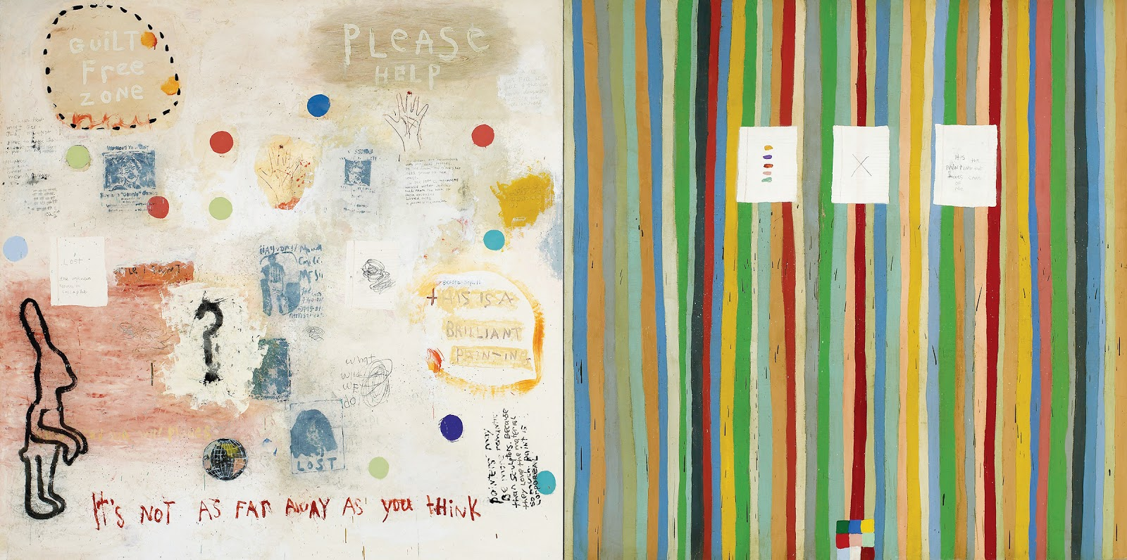 squeak carnwath everything 2 2002 oil and alkyd on canvas over panel 77 x 154 in courtesy of jane lombard gallery
