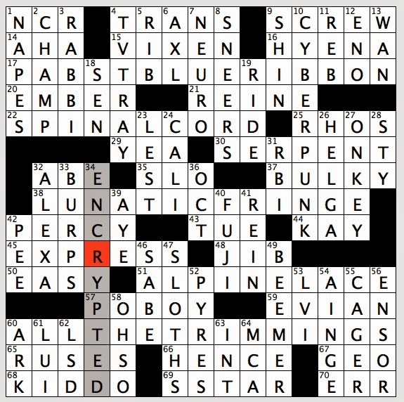 Rex Parker Does The Nyt Crossword Puzzle Best Friend Of Thomas Tank Engine Tue 6 3 14 Deli Counter Cheese Brand 3 Or 5 Series Car In Slang Brand With Tagline Established In Milwaukee 1844