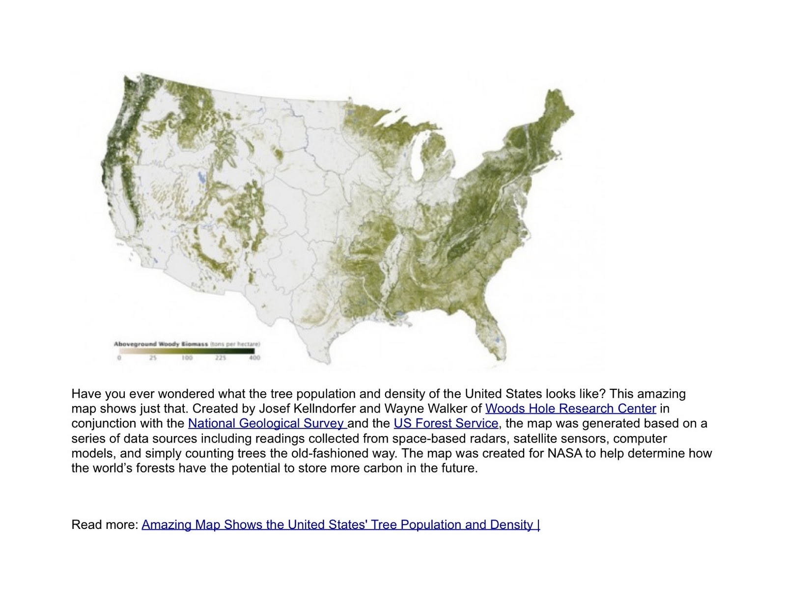 amazing map shows the united states tree population and density inhabitat green design will save the world