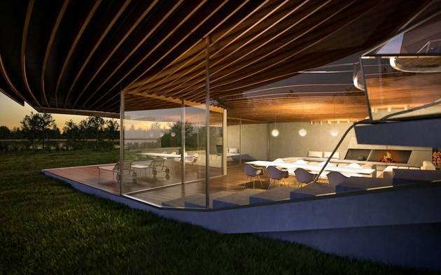 Futuristic Vacation Home Opens Up to Outdoors