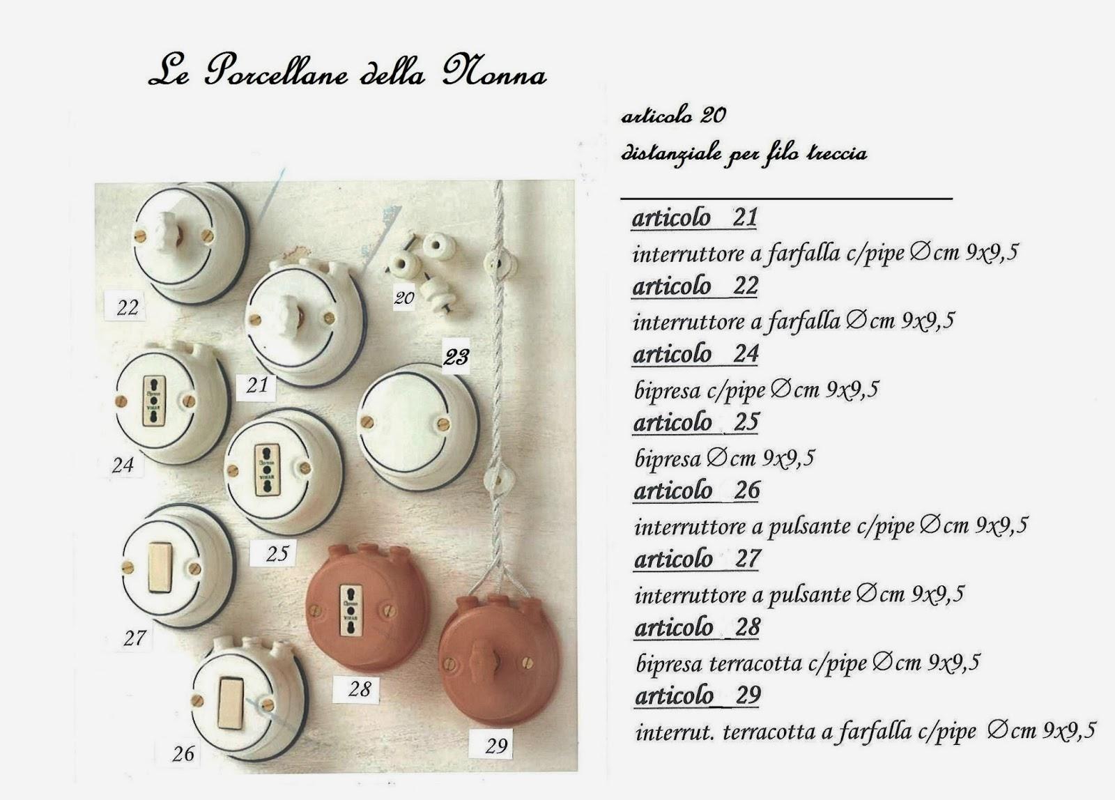 Lucicastiglione fabbrica lampadari: Componenti per impianto elettrico ...