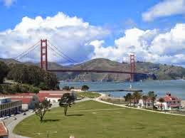 the golden gate from crissy field