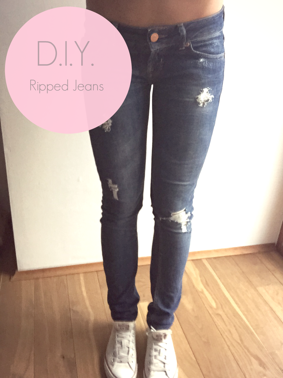 Untitled diy ripped destroyed jeans - Ripped jeans selber machen ...