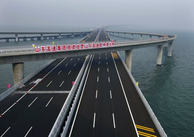 Jiaozhou Bay Worlds Longest Bridge - Longest bridge in the usa