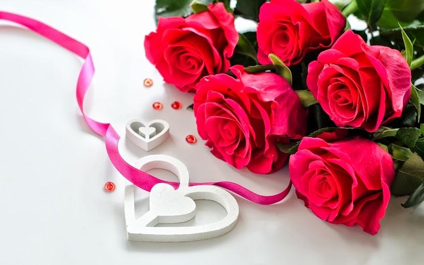 imagen de rosas con bonitos corazones