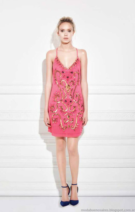 Moda 2015 vestidos de fiesta cortos 2015. Moda Ceilonia verano 2015 looks.