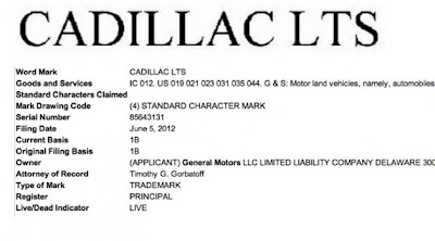 Cadillac moves to trademark LTS, is it for a rear-drive flagship?