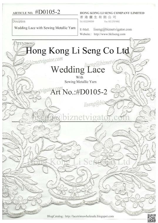Wedding Lace Manufacturer and Wholesale - Hong Kong Li Seng Co Ltd