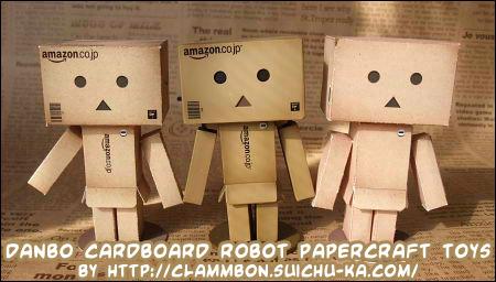 bo cardboard robot reading - photo #2