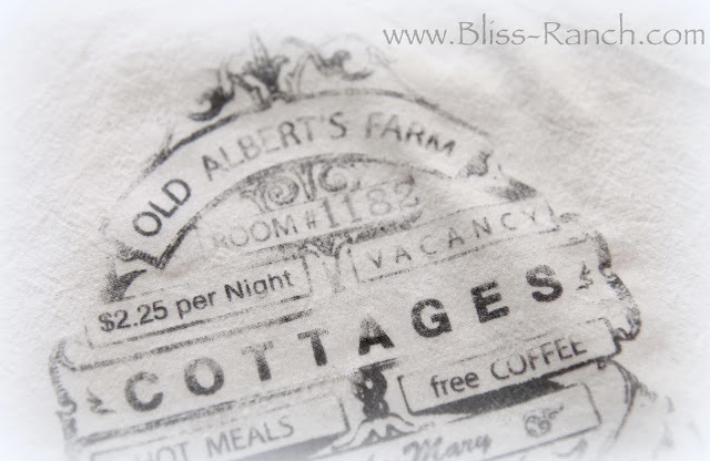 DIY Grain Flour Sack look Transfer www.Bliss-Ranch.com