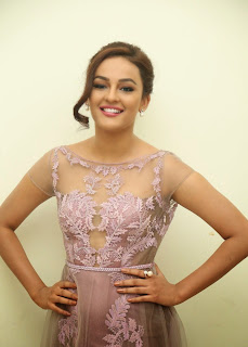 Actress Seerat Kapoor Pictures in Long Dress at Tiger Audio Launch 8.JPG