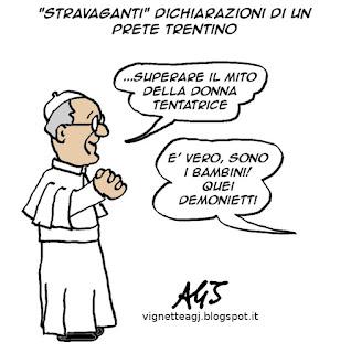 Flaim, sinodo, papa francesco, preti pedofili, vignetta, satira
