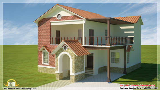 Modern contemporary house 3D render 1
