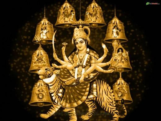 ambe durga hindu goddess jay maa sherawali mata