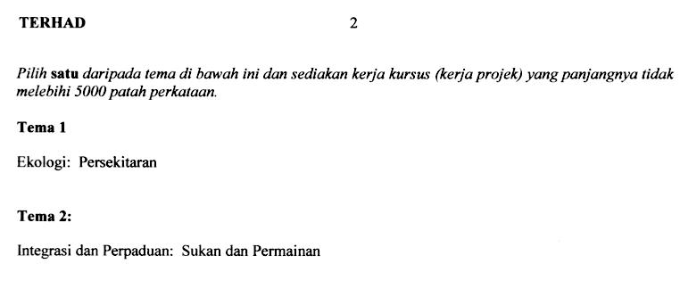 Manual Kerja Projek Pengajian AM 900 2