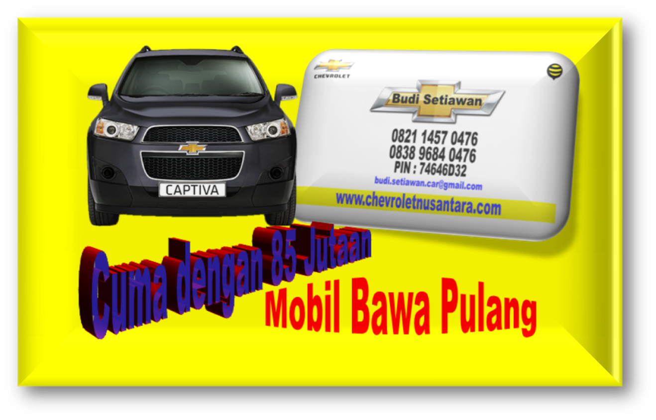 Promo Chevrolet Captiva Akhir Tahun DP 85 Jutaan