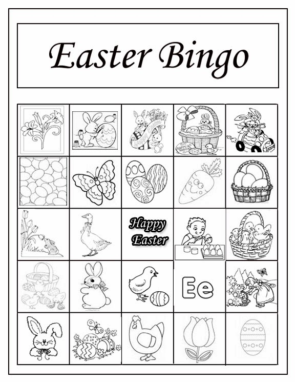 Critical image within free printable easter bingo cards
