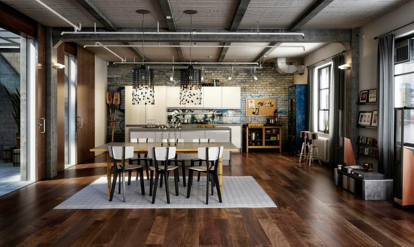 cuisine esprit loft industriel cuisine style industriel idee deco - Cuisine Esprit Loft Industriel