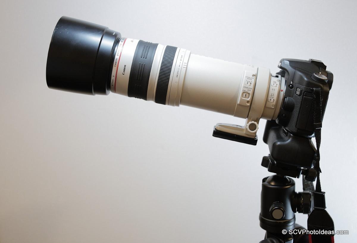 Canon EOS 50D+BG-E2N+EF 100-400 L IS USM on camerCanon EOS 50D+BG-E2N+EF 100-400 L IS USM on camera base horizontala base