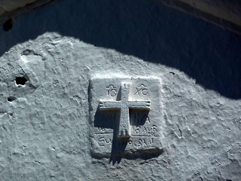 Details der kleinen Kirche von Agios Nikolaos Niras (Lefkada)
