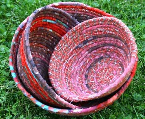 Orange Bowls of Goodness, Rope Bowls - Carol Marion