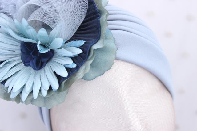 Colección Buceando - Turbante gris Bouquet