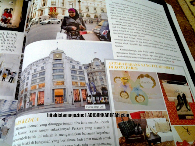 Hanis in Paris dalam majalah hijabista from Premium Beautiful by adibah