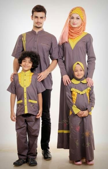baju muslim sarimbit lebaran dengan desain yang modern baju muslim ...