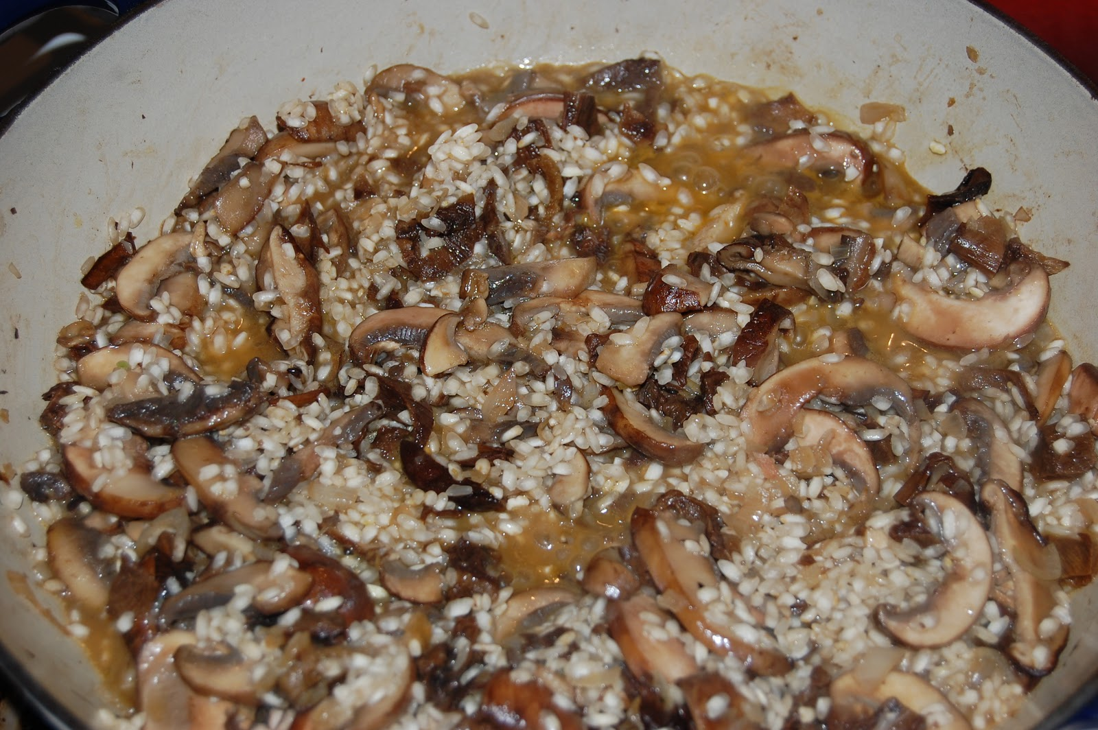 Wild Mushroom Risotto (early on)
