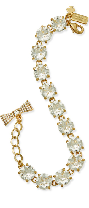 kate spade new york Gold-Tone Round Crystal Bracelet