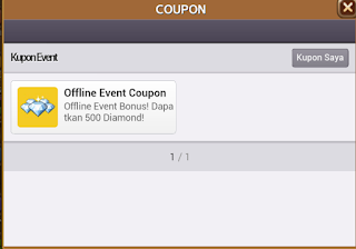 Kode Kupon Offline Event Coupon Berhadiah 500 Diamond Get Rich? cover