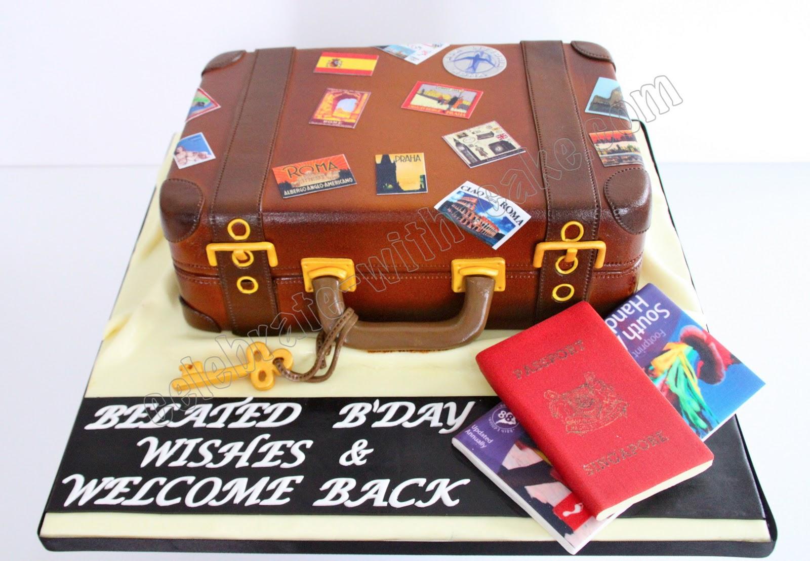 Celebrate With Cake Vintage Luggage Cake