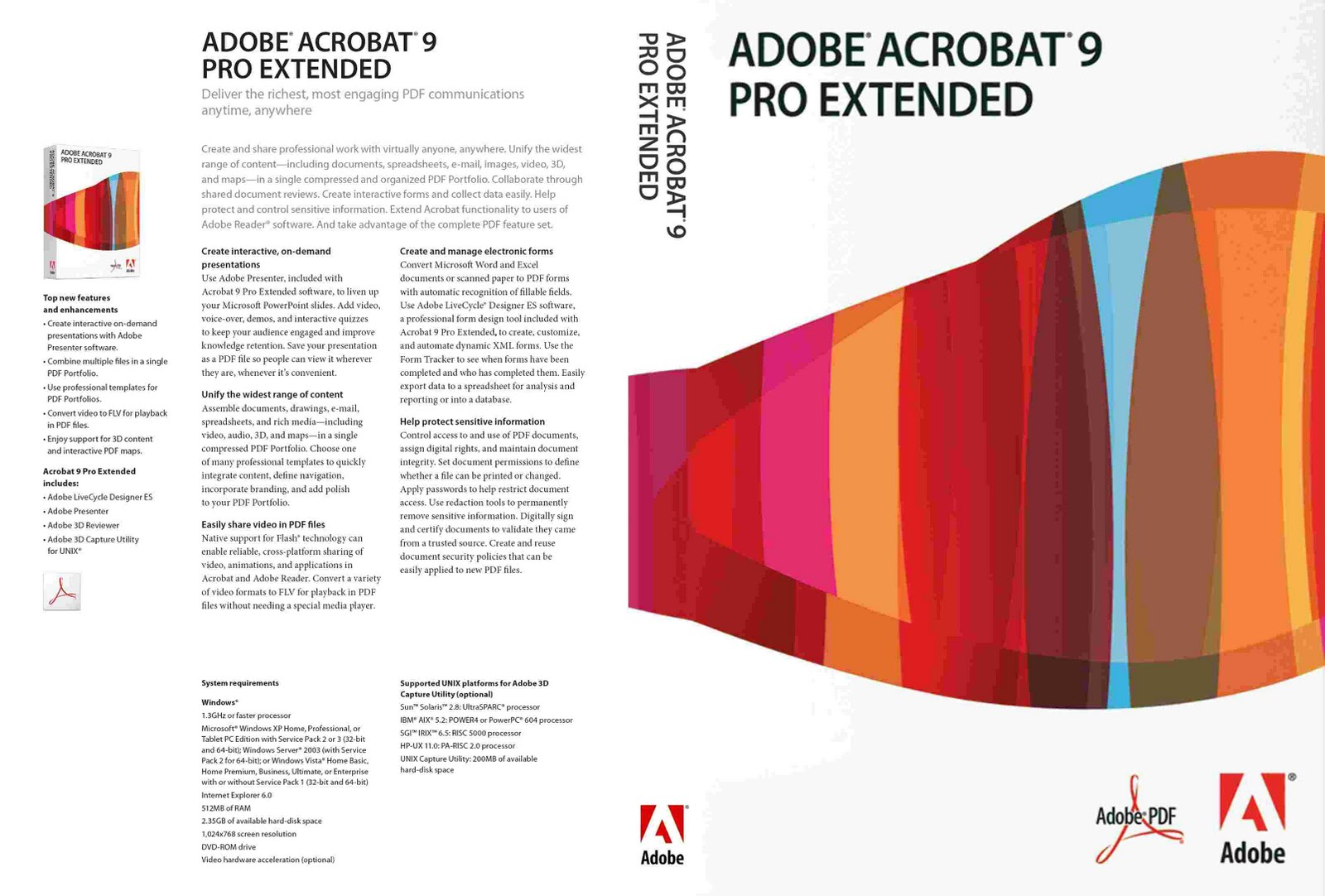 Adobe Acrobat Reader 9 Pro Extended System Requirements