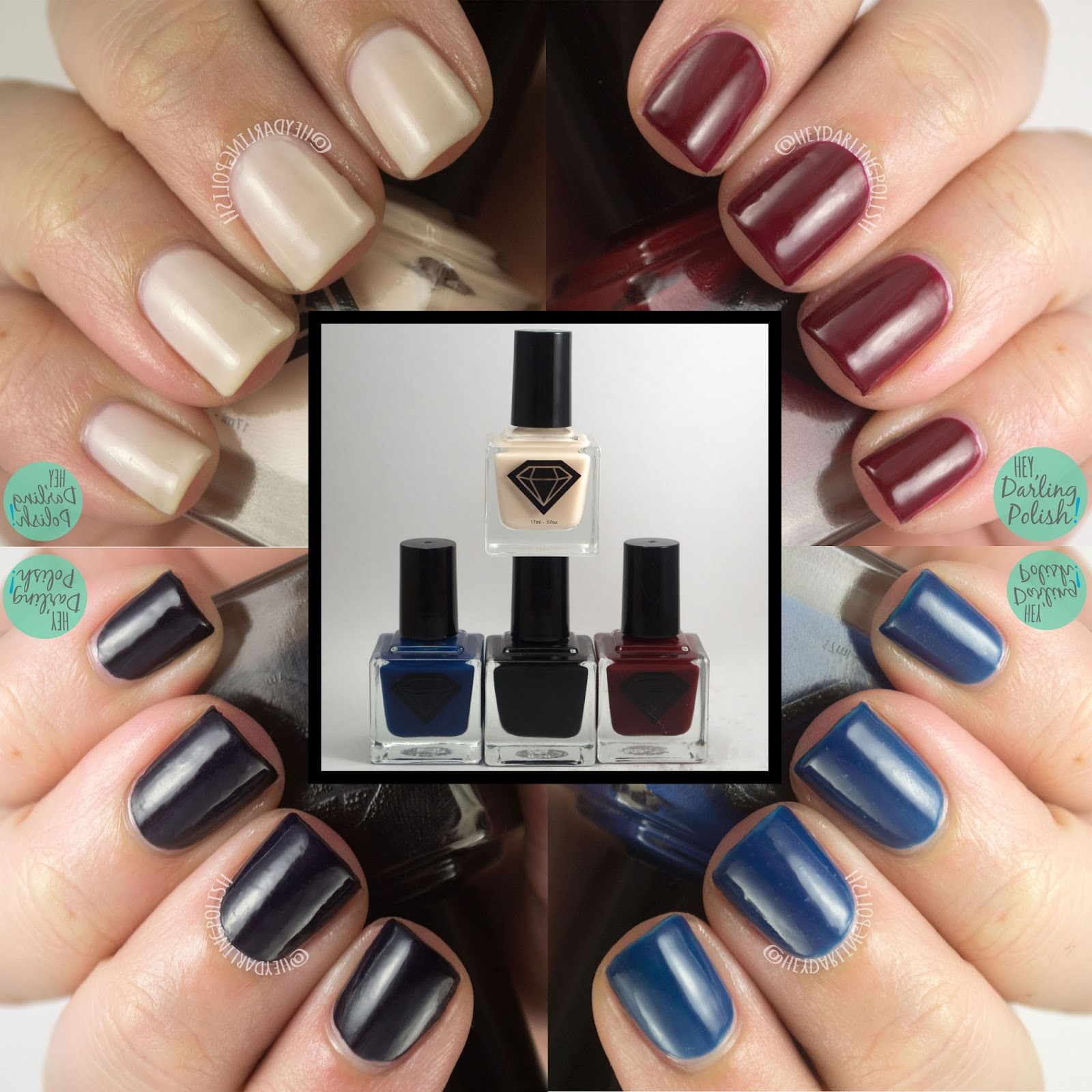 luxe lacquers, august, subscription box, indie, indie polish, swatches, hey darling polish