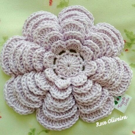 Ergahandmade Crochet Flower Diagram