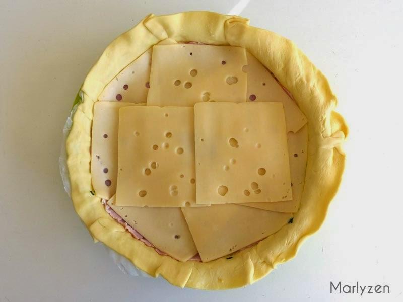 Couche de fromage.