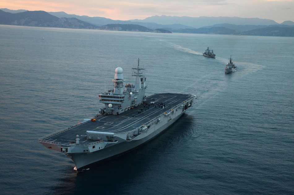 Italian cavour 550 aircraft carrier global military review - Cavour portaerei ...