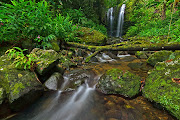 This image shows a waterfall called Las Delicias which is located right in . (lasdelicias)