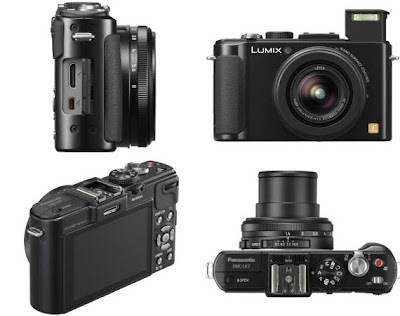 Panasonic Lumix LX7 in black, new panasonic lumix camera, compact system camera, point to shoot camera