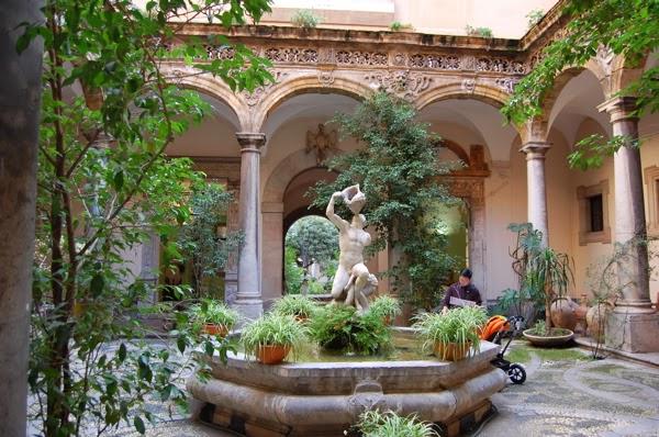 Returning home to greece garden traditions for Roman garden designs