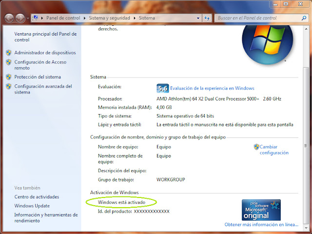 descargar validador de windows 7