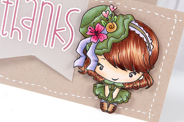 The greeting farm hatter bean stamp card simon says stamp blog for the sentiment i embossed thanks from paper smooches chit chat stamp set on vellum turned it over and colored the interior of the letters with a m4hsunfo